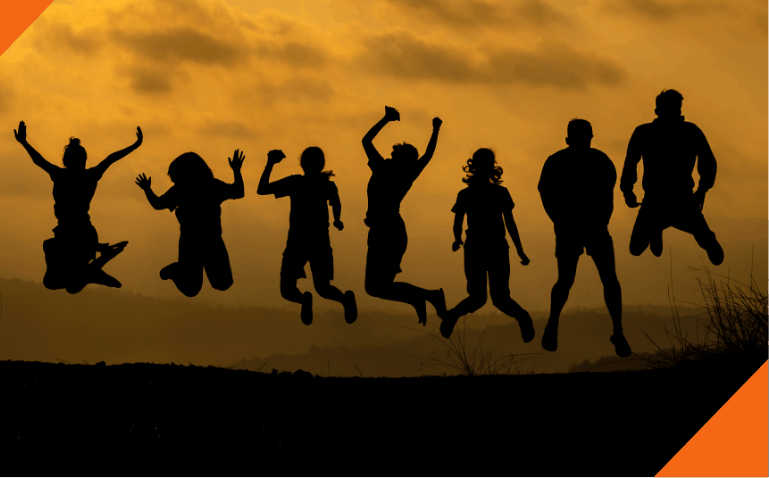 Soulbbatical home image - people jumping
