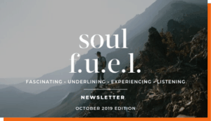 Welcome to the first edition of SOUL F.U.E.L.